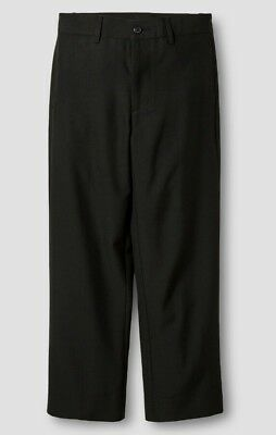 Black Boys Dress Pants (Cat & Jack Boys Suit/Dress Pants Flat Front W/Adjustable Waist Black 16 (3813) )