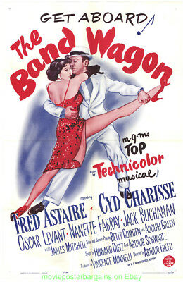 BAND WAGON MOVIE POSTER R1963 Folded 27x41 FRED ASTAIRE CYD CHARISSE for sale  Shipping to India