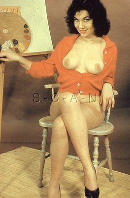 Vintage 40s-60s Nude 35mm Slide / Negative- Well Endowed Brunette- Artist- Legs