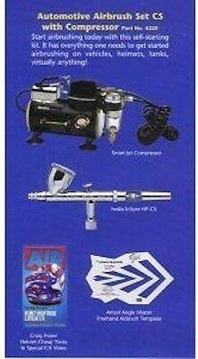 NEW! Iwata HP-CS Airbrush, Compressor, Video & Stencil Painting Kit - Cs Airbrush Kit