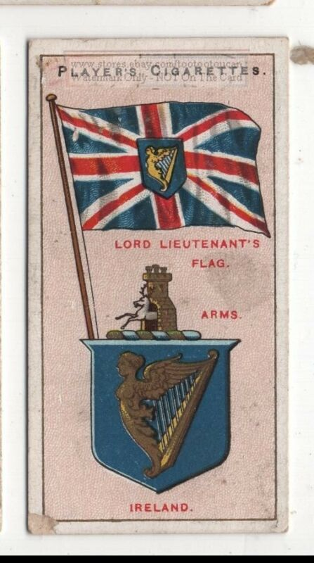 Ireland Irish Flag Banner Emblem 110+ Y/O Ad Trade Card