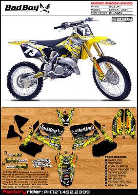 Suzuki Rm 125 250 2001-2017 Dirt Bike Graphics Decal Bad Boy Racing By Enjoy Mfg