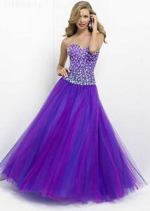 Blush pink brand prom dress
