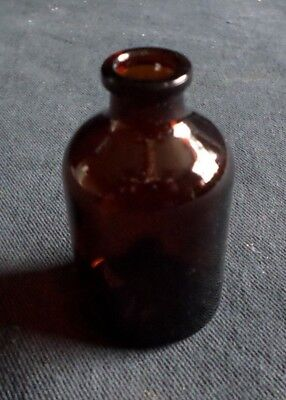 Laboratory Glass Amber 2oz Serum Reagent Apothecary Bottle No Stopper