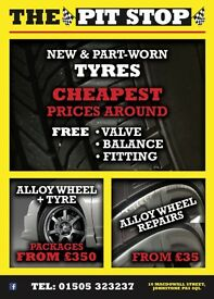 Cheap new And part worn tyres