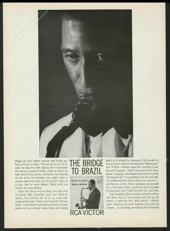 1962 Sony Rollins photo RCA Victor Records vintage print ad