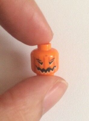 3 Lego Harry Potter Orange Pumpkin Head Evil Halloween Lantern Minifigure