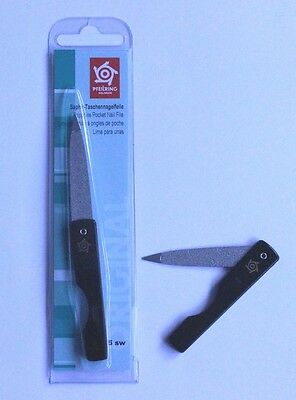 Pfeilring 1115SW Sapphire Fold-Away Black Nail File 115mm - Made in Germany