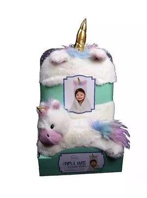 Little Miracles Animal Hugs Plush Unicorn and Hooded Blanket  B3 - Hugs Plush