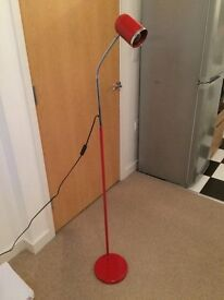 Stylish Red Floor Lamp For Sale, Excellent Condition, £10