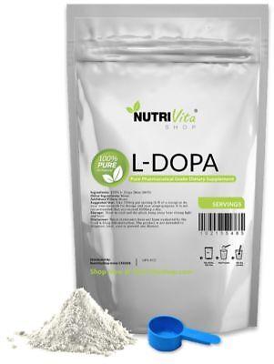 250g L-DOPA 100% PURE Levodopa Mucuna Pruriens Powder International Shipping USA