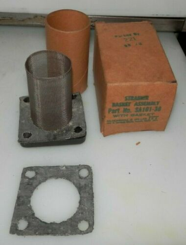 NEW McDONNELL & MILLER STRAINER BASKET ASSEMBLY SA101-38 WITH GASKET