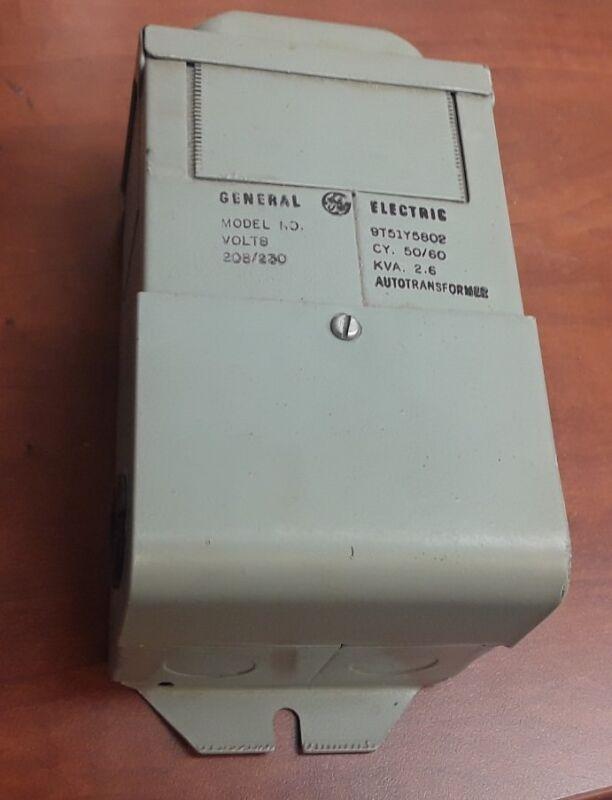 GE General Electric 9T51Y5802 Autotransformer Transformer 2.6KVA