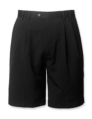 Cutter   Buck Gabardine Microfiber Pleated Golf Shorts