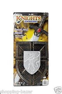 KNIGHTS SWORD AND SHIELD CHILDRENS KIDS PLAY SET WEAPON FANCY DRESS TOY ROLE PLA