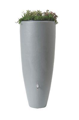 Garantia Wasserbehälter 2in1 mit Pflanzschale 300 L zinkgrau, Regenfass