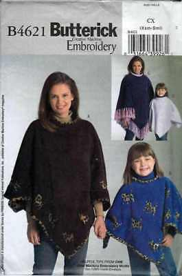 PONCHO Pattern LADIES Childs  Sz Xsm to Sml  GREAT for FALL / WINTER Gift  - Winter Crafts For Kids