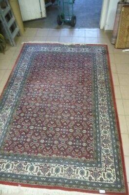8216. Schöner alter Teppich 100 % Wolle Handarbeit aus Indien