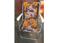 Retro folding garden chair campervan/picnic/beach/glamping