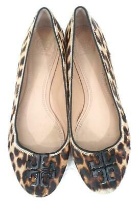 TORY BURCH LOWELL 2 CALF HAIR 9.5 M USED/WEAR LEOPARD PRINT BALLET FLATS/SHOES