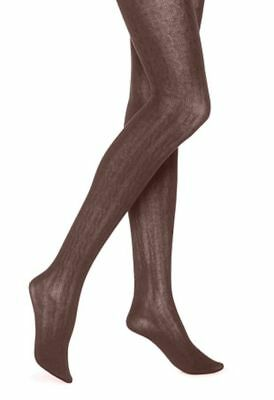 Hue Sweater Tights Sz S / M BROWN ESPRESSO Cable Sweater Modal Blend NEW $20
