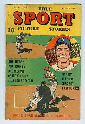 True Sport Picture Stories Vol 4 #9 September 1948 VG