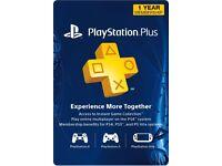 PS4 PlayStation Network Plus PSN 12 month membership