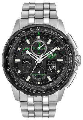 Citizen Eco-Drive Men's JY8051-59E Skyhawk A-T Black Dial Silver-Tone 47mm Watch