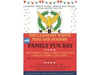 The Great Family Fun Day on Hailey Park hosted by Llandaff North RFC! Sat 23rd, 10-4pm.
