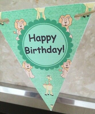 Noahs Ark theme Bunting Banner Birthday Party Decoration Baby Boy](Noah's Ark Baby Shower Theme)