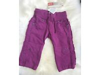 BNWT Purple Diesel Trousers Age 6 Months