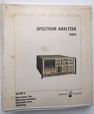 Hp 3585a Spectrum Analyzer Operating Service Manual Vol 2 Pn 03585-90001