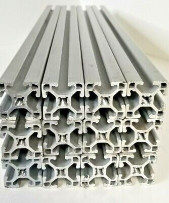 8020 Aluminum Extrusion T-slot 1515-lite 1.5 X 1.5 24 L Lot Of 12