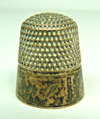 Goldsmith Stern Sterling Silver Thimble GSC Fouled Anchor 1913-1933 Monogrammed