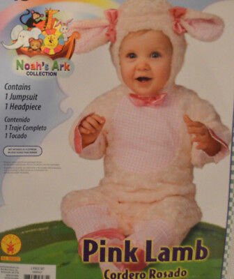 Baby Girl Little Lamb 2 Pc Halloween Costume Outfit Sizes 6-12M, 12-18M