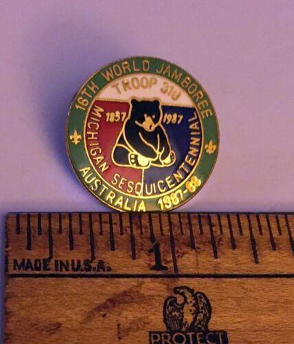 1987-88 16th World Jamboree Michigan Sesquicentennial Troop 310 Contingent Pin