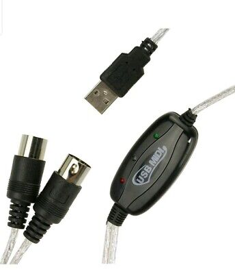 Tastatur Konverter Kabel (USB IN-OUT MIDI-Kabel-Konverter PC zum Musik-Tastatur-Adapter-Schnur X0Q5)
