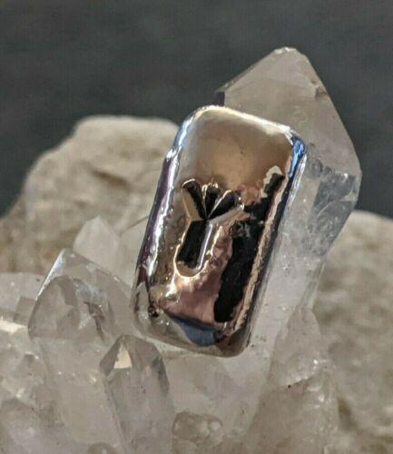 ".999 Fine Silver Hand Poured Runes~1/2Ozt~ 2021""Algiz""Beggars Tomb Silver Mine"