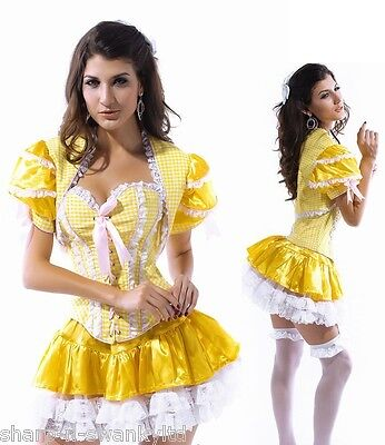 ladies sexy goldilocks fairy tale corset halloween fancy