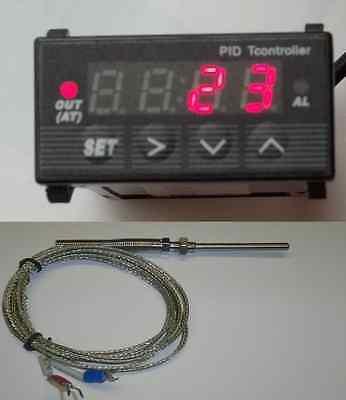 Mini Compact 132 Din Cf Digital Pid Temperature Controller 12v 1000k Sensor