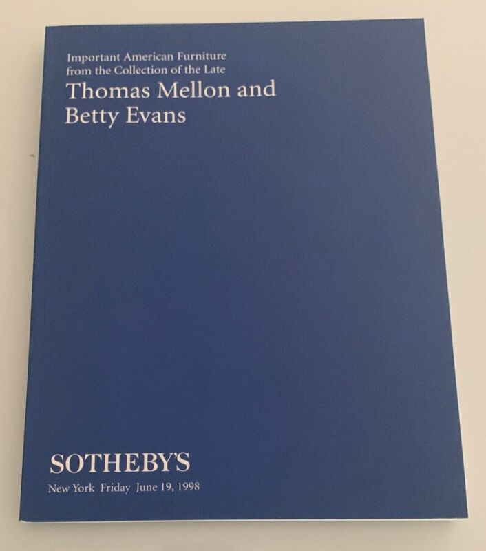 Auction Catalog: Sotheby's Furniture Collection of Thomas Mellon & Betty Evans