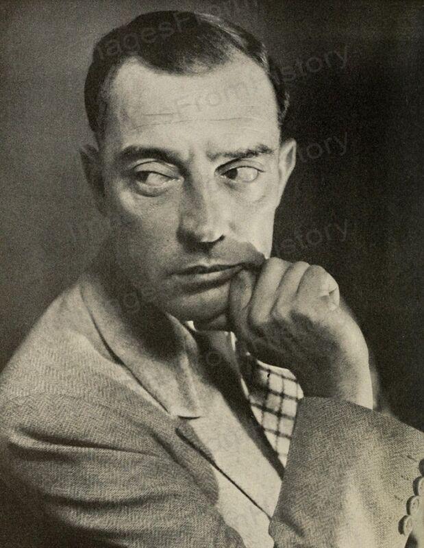 8x10 Print Buster Keaton Portrait #BKAG