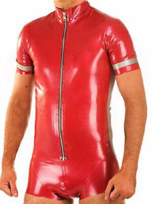 Ju/He. Kunstleder Jumpsuit Body Suit  glänzend ROT ca. Gr. 3XL, NEU