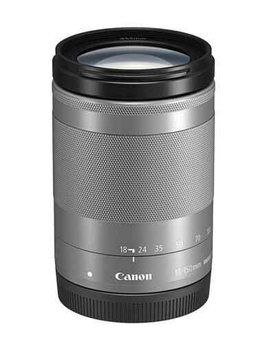 Canon EF-M 18-150mm f/3.5-6.3 IS STM Telephoto Zoom Lens for Canon EOS M Series Cameras Silver 1376C002
