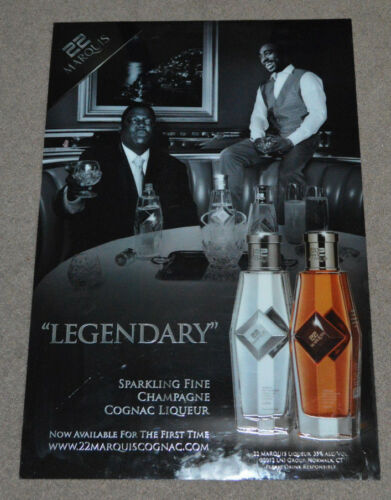 Notorious BIG Tupac Shakur 22 Marquis Cognac Champagne Promo Sign Rap RARE