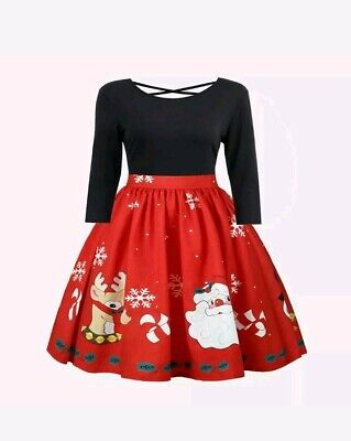 L/XL Santa Christmas Dress New Very Cute - Cute Santa Dresses