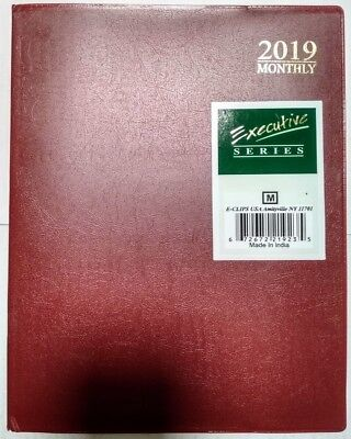 2019 Weekly Monthly Dated Planner Calendar Yearly Agenda Appointment Book 8x10