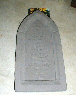 NEW Kay Berry Stone Garden Spiritual In-Memory Religious Hanging Garden Sign