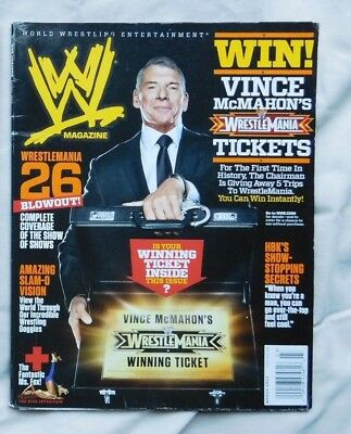 WWE MAGAZINE March 2010 Vince McMahon + Poster Inside
