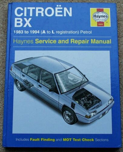 CITROEN+BX+Haynes+Manual+BRAND+NEW+0908+1983-94+MINT+Free+UK+P%26P